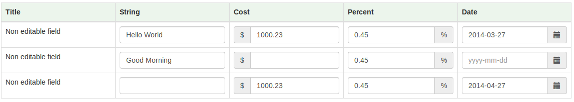 Bootstrap Table Add Edit Delete Row